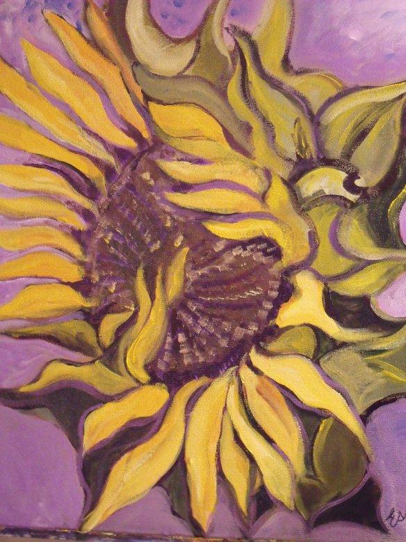 Sunflower Dissolving into Violet 001
