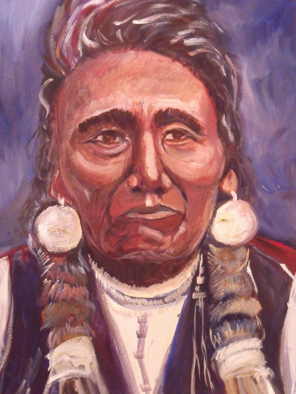 """Chief Joseph"" Acrylics, on stretched canvas, 2014"