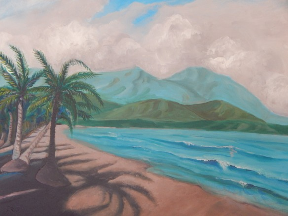 "Acrylic, 24 x 36"" - From a photo taken in Costa Rica, 2015"
