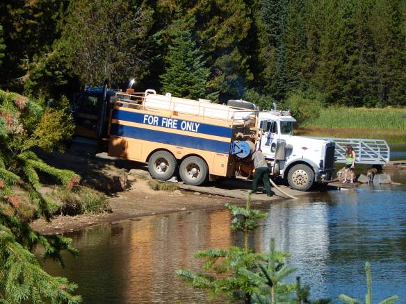 """Pump truck at Lake Jubilee"""