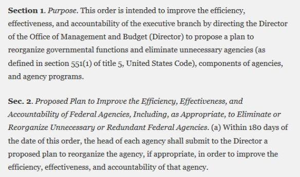 Executive order 13781