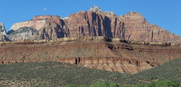 on the road from Death Valley to Zion National Park