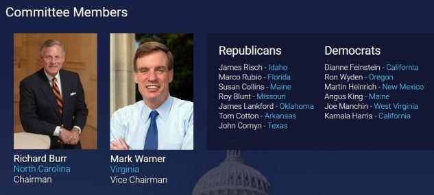 senate intelligence committee members.JPG