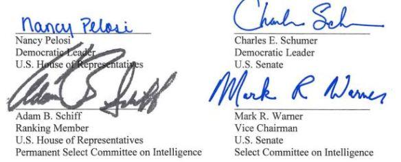 Pelosi schumer warner signatures.JPG