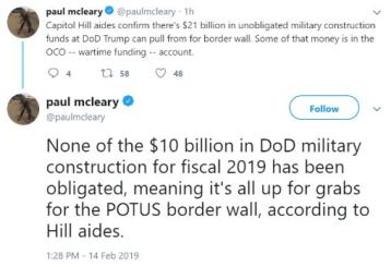 money for wall tweet