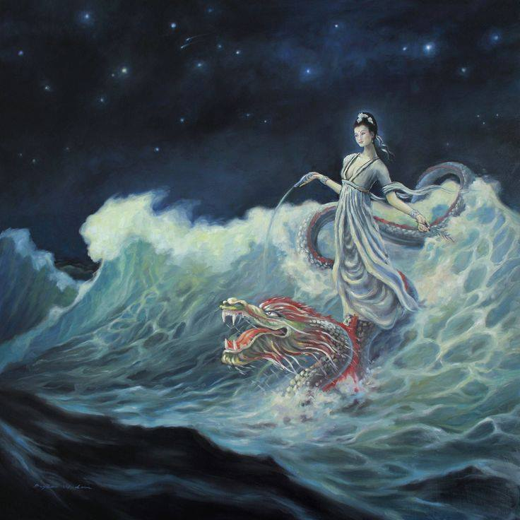 Quan Yin on Dragon